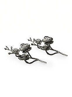 Michael Aram - Black Orchid Napkin Rings, Set of 2