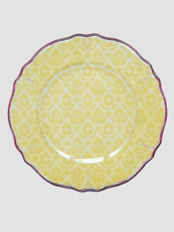 Le Cadeaux - Louis Yellow Dinner Plates, Set Of 4