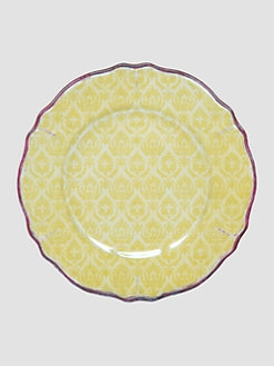 Le Cadeaux - Louis Yellow Salad Plates, Set Of 4