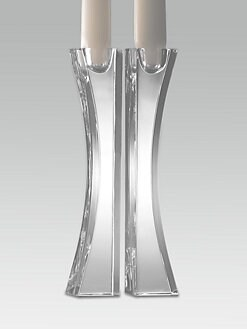 Nambe - Kissing Crystal Candlesticks