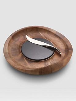 Nambe - Butterfly Cheese Tray with Knife