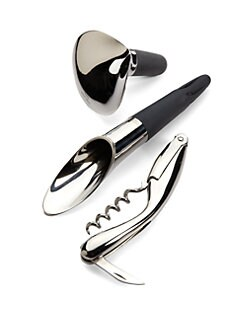 Georg Jensen - Wine Stopper & Corkscrew Gift Set