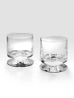 Nambe - Groove Double Old Fashioned Glass, Set Of 2