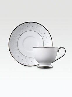 Prouna - Crystal-Embellished Bone China Cup and Saucer