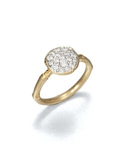 John Hardy - Diamond and 18K Yellow Gold Ring