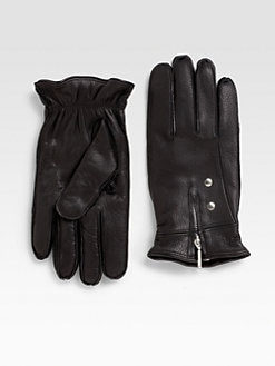 Saks Fifth Avenue Men's Collection - Cashmere-Lined Leather Gloves
