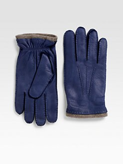 Saks Fifth Avenue Men's Collection - Nappa Leather Cashmere-Lined Gloves
