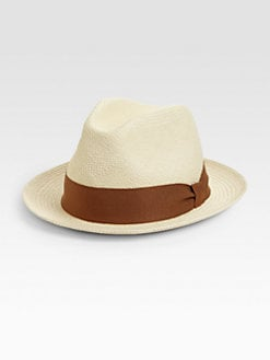 Saks Fifth Avenue Men's Collection - Straw Fedora