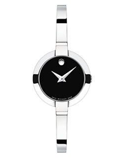 Movado - Bela Stainless Steel Bangle Bracelet Watch