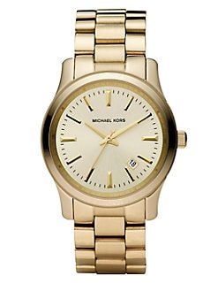 Michael Kors - Round Stainless Steel Bracelet Watch