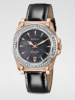 Breil - Manta Round Two-Tone Strap Watch
