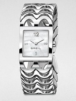 Breil - Lady B Square Stainless Steel Bracelet Watch