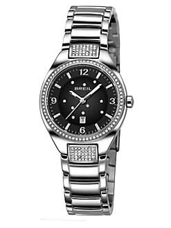 Breil - Precious Crystal & Stainless Steel Bracelet Watch/Black
