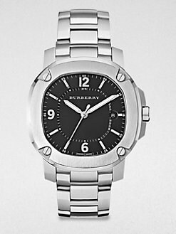 Burberry Britain - Unisex Stainless Steel Date-Function Watch