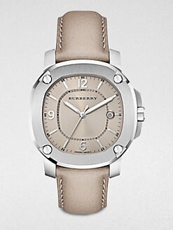Burberry Britain - Unisex Stainless Steel Date-Function Watch/Trench