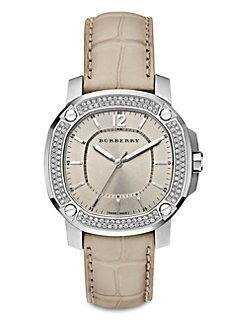 Burberry Britain - Unisex Diamond & Stainless Steel Watch
