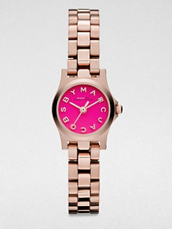 Marc by Marc Jacobs - Henry Dinky Rose Goldtone Stainless Steel Watch/Pink Dial