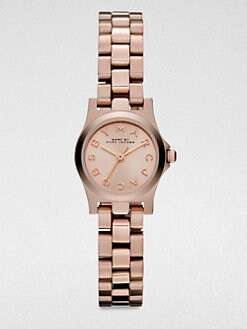 Marc by Marc Jacobs - Henry Dinky Rose Goldtone Stainless Steel Bracelet Watch