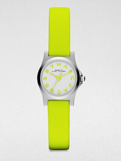 Marc by Marc Jacobs - Henry Dinky Stainless Steel Watch/Yellow Strap