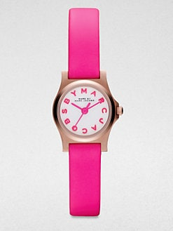 Marc by Marc Jacobs - Henry Dinky Rose Goldtone Stainless Steel Watch/Pink Strap