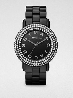 Marc by Marc Jacobs - Crystal & Blackened Stainless Steel Watch