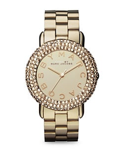 Marc by Marc Jacobs - Crystal & Goldone Stainless Steel Watch