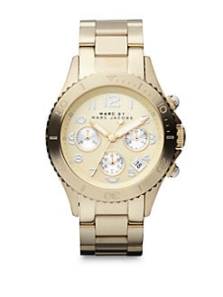 Marc by Marc Jacobs - Goldtone Stainless Steel Chronograph Watch