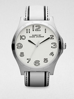Marc by Marc Jacobs - Stainless Steel & Printed Leather Watch