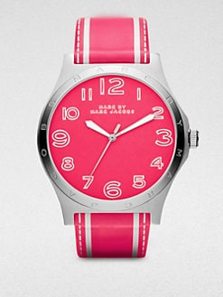 Marc by Marc Jacobs - Stainless Steel & Leather Watch/Pink