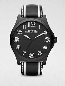 Marc by Marc Jacobs - Stainless Steel & Leather Watch/Black