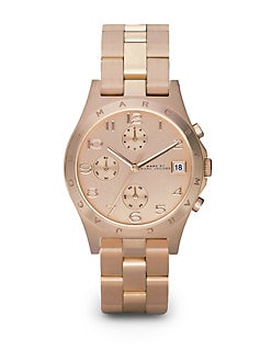 Marc by Marc Jacobs - Rose Goldplated Link Bracelet Chronograph Watch