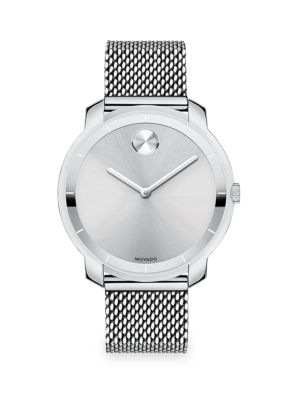 Bold Stainless Steel Mesh Bracelet Watch