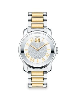 Bold Luxe Stainless Steel Bracelet Watch