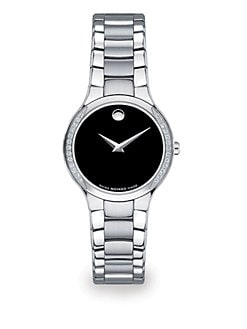 Movado - Stainless Steel & Diamond Serio Watch