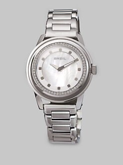 Breil - Stainless Steel Mother-Of-Pearl Dial Watch