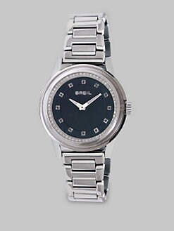 Breil - Stainless Steel Black Dial Watch