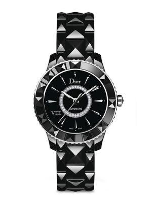 Dior VIII Diamond & Black Ceramic Automatic Bracelet Watch