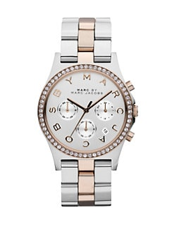 Marc by Marc Jacobs - Crystal Two-Tone Chronograph Watch