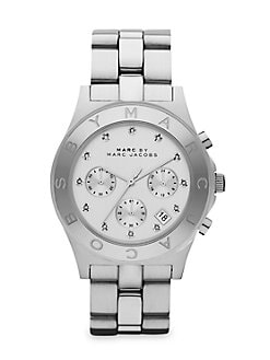 Marc by Marc Jacobs - Crystal Accented Stainless Steel Chronograph Watch