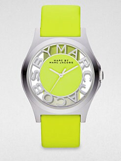 Marc by Marc Jacobs - Henry Skeleton Stainless Steel Strap Watch/Yellow Strap