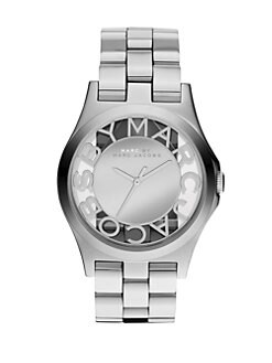 Marc by Marc Jacobs - Henry Skeleton Stainless Steel Bracelet Watch/Silver