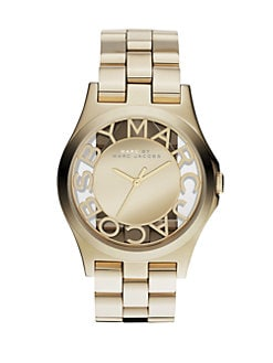 Marc by Marc Jacobs - Henry Skeleton Stainless Steel Bracelet Watch/Gold