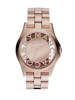 Marc by Marc Jacobs - Henry Skeleton Stainless Steel Bracelet Watch/Rose Gold