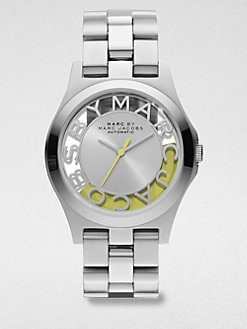 Marc by Marc Jacobs - Limited Edition Henry Skeleton Stainless Steel Bracelet Watch/Yellow