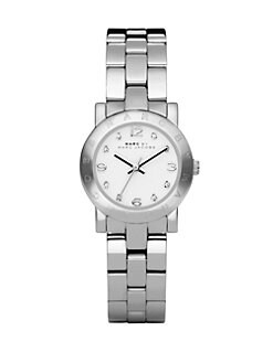 Marc by Marc Jacobs - Crystal Stainless Steel Logo Watch/Silvertone