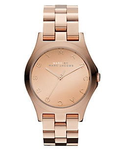 Marc by Marc Jacobs - Henry Rose Gold Finished Stainless Steel Bracelet Watch/Rose Gold Dial