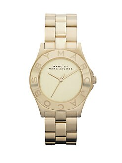 Marc by Marc Jacobs - Gold-Finished Stainless Steel Bracelet Watch