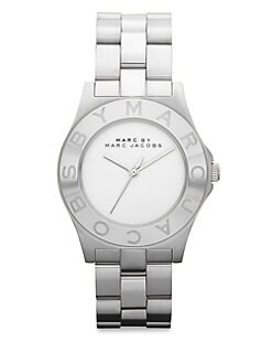 Marc by Marc Jacobs - Brushed Stainless Steel Logo Watch/Silvertone