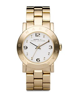 Marc by Marc Jacobs - Amy Link Bracelet Watch/Gold