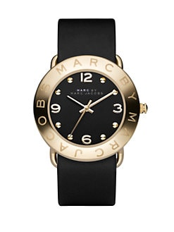 Marc by Marc Jacobs - Amy Leather Strap Watch/Black